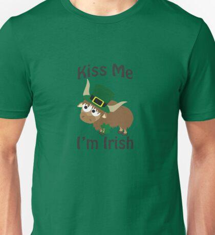 Kiss Me I'm Irish Yak Unisex T-Shirt