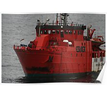 Standby Vessel Esvagt Supporter, central north sea. Poster