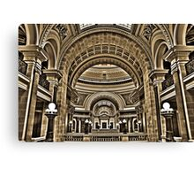 Interior View of Wisconsin State Capital  Canvas Print
