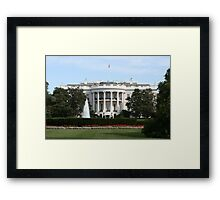 South Portico of the White House Framed Print
