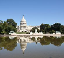 Reflections on US Capitol by CBenson