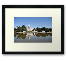 Reflections on US Capitol Framed Print