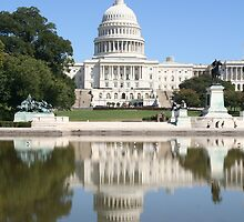 Reflections of US Capitol Dome by CBenson