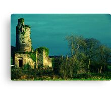 Rural Tower In Acidic Light  Canvas Print