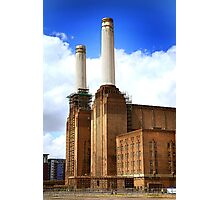 Battersea power station chimneys Photographic Print