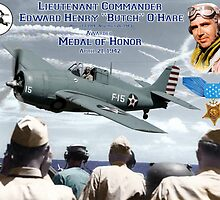"""Medal of Honor """"Butch"""" O'Hare  by Mil Merchant"""