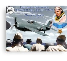 """Medal of Honor """"Butch"""" O'Hare  Canvas Print"""