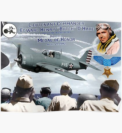 "Medal of Honor ""Butch"" O'Hare  Poster"