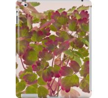 Colorful Wild Columbine Leaves iPad Case/Skin