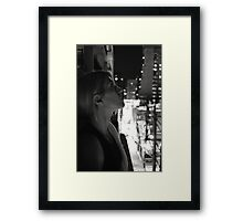 """""""From an urban jungle, to the heavens we gaze"""" Framed Print"""