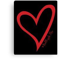 #BeARipple...Flow Red Heart on Black Canvas Print