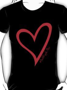 #BeARipple...Flow Red Heart on Black T-Shirt