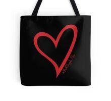 #BeARipple...Flow Red Heart on Black Tote Bag