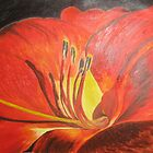 Big Red Flower by April Webb