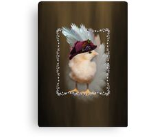 Chic Chick Easter Bonnet Canvas Print