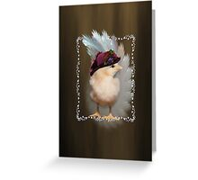 Chic Chick Easter Bonnet Greeting Card