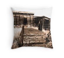 Sheds Throw Pillow