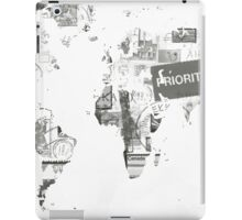 World map post stamps black and white iPad Case/Skin