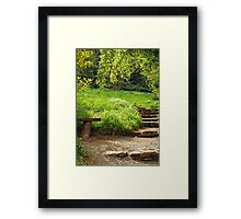Green Shade, DEVON, ENGLAND Framed Print
