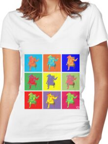 Tea Time Women's Fitted V-Neck T-Shirt