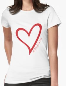 #BeARipple...You & Me. Red & White Womens Fitted T-Shirt