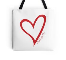 #BeARipple...Flow Red Heart on White Tote Bag