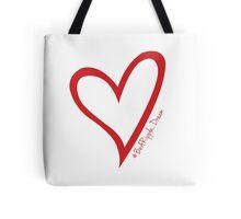 #BeARipple...Dream Red Heart on White Tote Bag