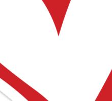 #BeARipple...Dream. Red Heart on Black Sticker