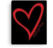 #BeARipple...Happy Red Heart on Black Canvas Print