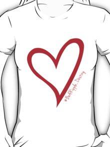 #BeARipple...Destiny Red Heart on Black T-Shirt