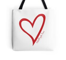 #BeARipple...Focus Red Heart on White Tote Bag