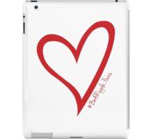 #BeARipple...Focus Red Heart on White iPad Case/Skin