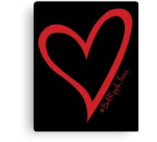 #BeARipple...Focus Red Heart on Black Canvas Print
