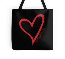 #BeARipple...You & Me Red Heart on Black Tote Bag