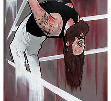 "Bray Wyatt Original Painting-""Exorcise Your Demons"" by Dave Cole"