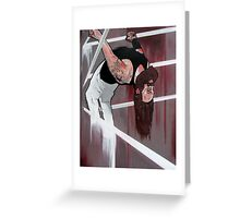 "Bray Wyatt Original Painting-""Exorcise Your Demons"" Greeting Card"