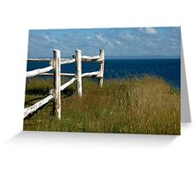 white fence Greeting Card