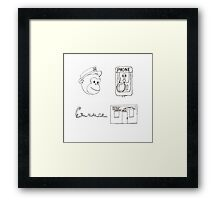Serial Podcast Drawing. Framed Print