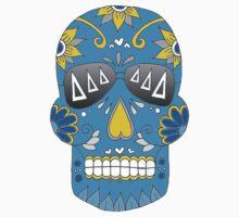 Tri Delta Teal Sugar Skull by emmytyga