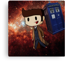 Chibi 10th Doctor in Space (Doctor Who) Canvas Print
