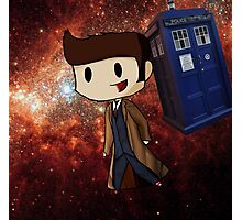 Chibi 10th Doctor in Space (Doctor Who) Photographic Print