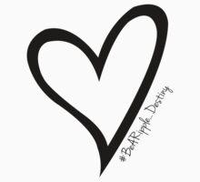 #BeARipple...Destiny Black Heart on White by BeARipple