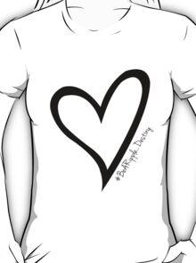 #BeARipple...Destiny Black Heart on White T-Shirt