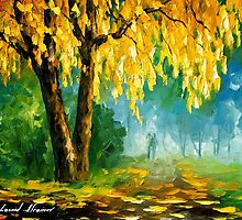 The Leaves That Never Fall — Buy Now Link - www.etsy.com/listing/219228024 by Leonid  Afremov