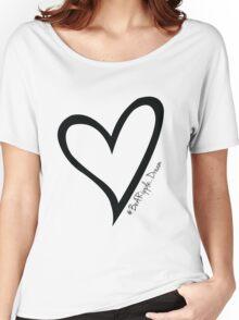 #BeARipple...Dream Black Heart on White Women's Relaxed Fit T-Shirt