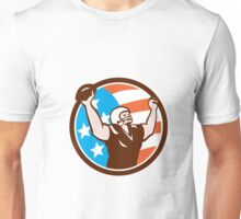 American Football Celebrating Touchdown Retro Unisex T-Shirt