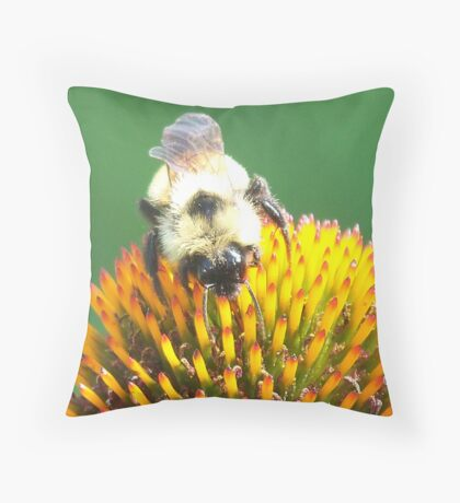 Busy Beeeee Throw Pillow