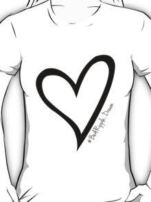 #BeARipple...Dream Black Heart on Red T-Shirt