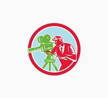 Cameraman Vintage Movie Camera Woodcut Unisex T-Shirt