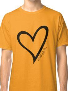 #BeARipple...Flow Black Heart on White Classic T-Shirt